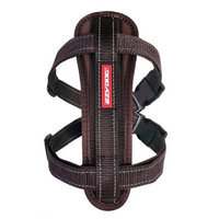 EzyDog Chest Plate Custom Fit Dog Harness, Extra Large, Chocolate