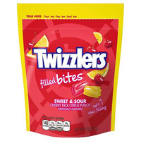 Twizzlers Filled Bites Candy Sweet & Sour Cherry Kick Citrus Punch