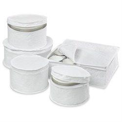 Honey Can Do 5 Piece Dinnerware Storage Set