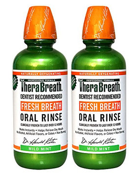 TheraBreath Dentist Recommended Fresh Breath Oral Rinse - Mild Mint Flavor