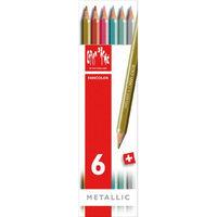 Caran D'Ache / Fancolor Water Soluble Pencils / Metallic