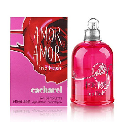 Amor Amor In a Flash by Cacharel for Women 3.4 oz Eau de Toilette Spray