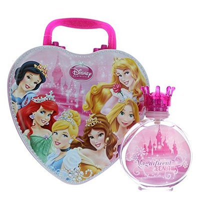 Disney Princess Magnificent Beauties Eau De Toilette Spray for Girls with Metal Lunch Box