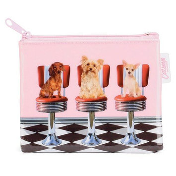 Catseye Diner Dogs Coin Purse