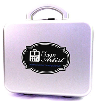 My Pick Up Artist Sport Case - Compact Portable Beauty & Make-Up Organizer for Travel - Holds Up to 10 Pieces - Starlight Silver