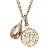 a.v. max R Monogram Charm Necklace