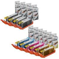 LD Compatible Canon Set of 10 PGI-250XL & CLI-251XL High Yield Inkjet Cartridges: 2 Pigment Black 6432B001, 2 Black 6448B001, 2 Cyan 6449B001, 2 Magenta 6450B001 and 2 Yellow 6451B001