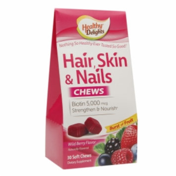 Healthy Delights Hair, Skin & Nails Chews, Berry, 30 ea
