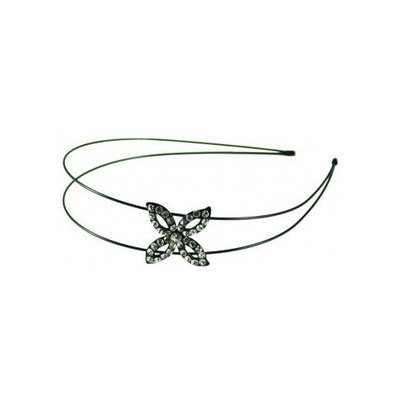 Smoothies Crystal Flower Double Wire Headband-Clear 01494