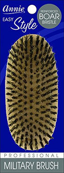 Annie Easy Style Reinforced Extra Firm Boar Bristle Military Brush