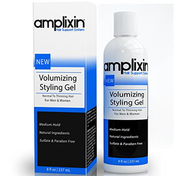 Amplixin Volumizing Styling Hair Gel With Caffeine & Organic Aloe Vera - Medium Hold - 8oz