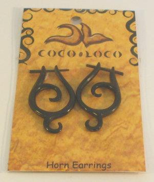 Post Earrings Bone Horn Black Coco Loco 1 Pair Earring