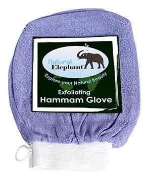 Natural Elephant Exfoliating Hammam Glove - Face and Body Exfoliator Mitt (Lush Lavender)