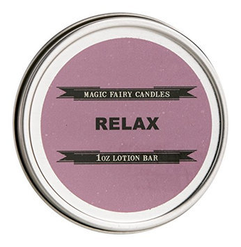 Magic Fairy Candles Relax Lavender Blend Lotion Bar all Natural Hand Crafted