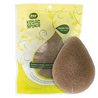 MY Konjac Sponge | All Natural Korean Facial Sponge with Real Green Tea