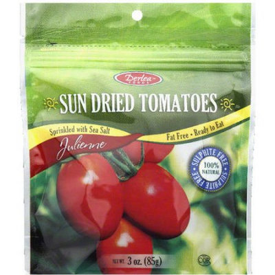 Derlea Foods Sun Dried Julienne Tomatoes, 3 oz, (Pack of 12)