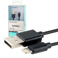 EXIBEL 3FT Black 8Pin Lightning USB 2-in-1 Cable For Apple iPhone 6 Plus 5.5
