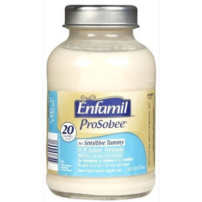 Enfamil Prosobee Lipil 20 Calorie Ready To Use, 8 - 6 fl. oz units Glass Bottle (Pack of 3)