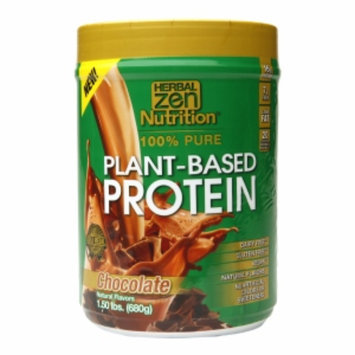 Herbal Zen - Plant-Based Protein 100 Pure Chocolate - 1.5 lbs.