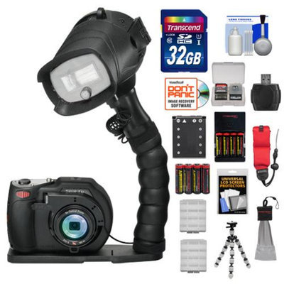 SeaLife DC1400 Pro 14MP HD Underwater Digital Camera with Flash & Flex Arm Bracket + 32GB Card + Battery + Tripod + Accessory Kit