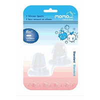 Momo Baby 2-Pack Wide Neck Silicone Spouts