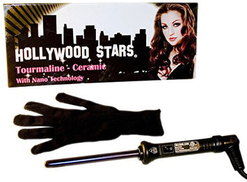 Hollywood Stars Tourmaline Ceramic Professional 13mm Hair Curling Iron Dual Voltage American Plug HAI CHI 110-240V with Glove
