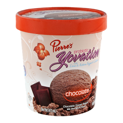 Pierre's Probiotic Yovation Chocolate Frozen Yogurt