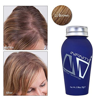 Infinity Hair Loss Concealing Fibers For Women & Men- Light Brown- 60g