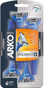 Arko Men System 3 Triple Blade Disposable Shaving Razor