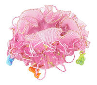 Uxcell Plastic Beads Organza Nylon Girls Elastic Hair Ponytail Holder