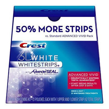 Crest 3D Whitening White Strips with Advanced Seal Vivid 50% More Strips
