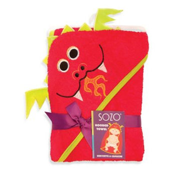 Sozo Dragon Hooded Towel in Red