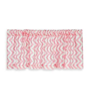 Glenna Jean Swizzle Window Valance in Pink