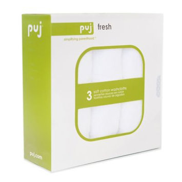 Puj Fresh 3-Pack Soft Cotton Washcloths