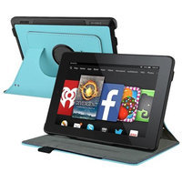 Insten INSTEN Baby Blue Leather Flip Stand Case For Amazon Kindle Fire HD 7