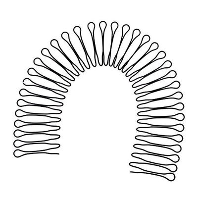 Uxcell Metal Wire 36 Toothed Woman Head Decoration Hair Hoop Hairband