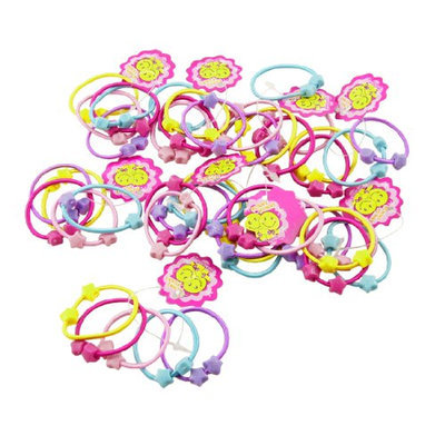 Uxcell 50 Piece Elastic Band Hair Tie Ponytail Holder