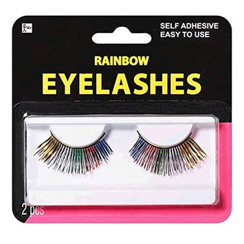 Amscan Electric Party Rainbow Eyelashes Multicolor