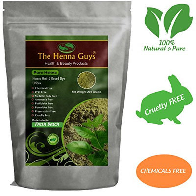 The Henna Guys 100% Pure and Natural Henna Powder for Hair Dye/Color
