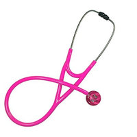 Ultrascope Adult Stethoscope with Hot Pink Tubing, Kitty and Doggie Design
