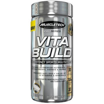 MuscleTech Vita Build High-Potency Sports MultiVitamin Dietary Supplement, 60 count
