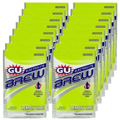 G.U. GU Brew Electrolyte Energy Drink Mix, Lemon Lime, 16-Count