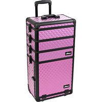 Sunrise Interchangeable 4 in 1 Pro Rolling Cosmetic Makeup Artists Case