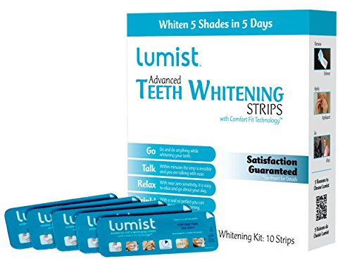 Lumist Advanced Teeth Whitening Strips with Comfort Fit Technology