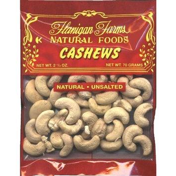 Flanigan Farms Cashews 2.5oz, Unsalted (6 Pack)