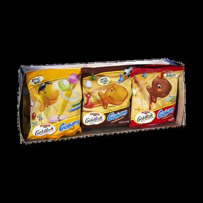 Pepperidge Farm Goldfish Grahams Chocolate, Honey, Cinnamon Baked Snacks 9 Pack