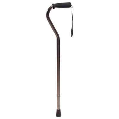 Lumex Offset Adjustable Cane with Nitrile Grip, Bronze, 1 ea