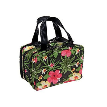Harry D Koenig & Co 3 Compartment Cosmetic Bag In Hibiscus
