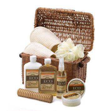 Vanilla Scented Bath and Body Basket Set