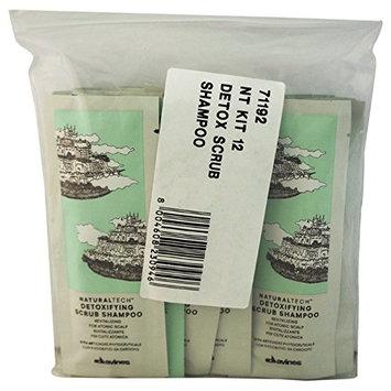 Davines 12 Piece Naturaltech Detoxifying Scrub Shampoo Sachet Kit for Unisex
